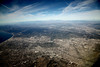 aerial California Century City (Lucie Maru) Tags: ocean california above city sky usa mountains southwest clouds plane landscape town flight aerial pacificocean centurycity fligh citygrid ariplanetracks