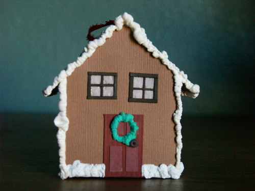 Paper Gingerbread House, Step 10