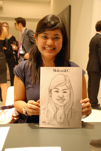 Portrait & Caricature live sketching for Molteni & C - 12