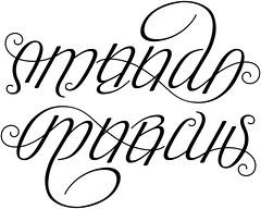 """""""Amanda"""" & """"Marcus"""" Ambigram"""