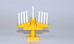 Finished LEGO Menorah (Reasonably Clever Chris) Tags: lego menorah