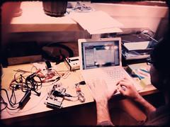 Building sensors with Joel (Benjamin Chun) Tags: science sensor arduino lowcost
