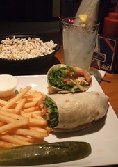 Wrap and popcorn