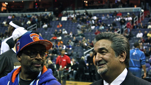 spike lee, ted leonsis, washington wizards, new york knicks, verizon center