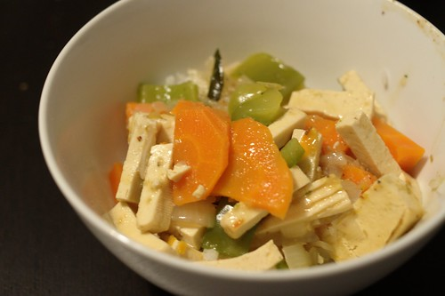 Vegetarian Thai Red Curry (made using Thai Manna kit)