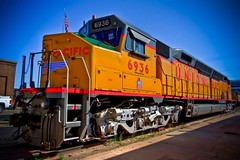Union Pacific 6936 (Marvin Bredel) Tags: railroad up train centennial diesel engine unionpacific locomotive wyoming cheyenne largest emd 6936 dda40x heritagefleet bredel marvinbredel marvin908dieselelectriclargest operatingmarvin