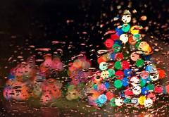Christmas Bokeh (Darrell Wyatt) Tags: christmas color rain lights bokeh balls christmaslights windshield
