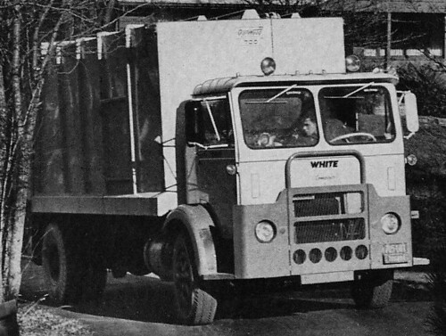 White Compact W/ Garwood 700 Rear Loader