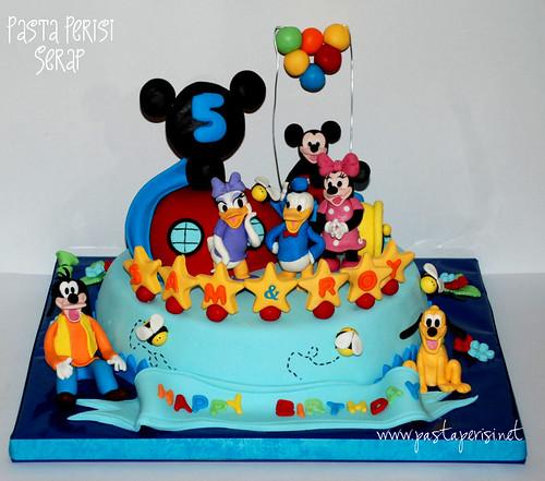 mickey mouse clup hause pastası- goofy