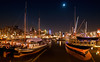 Leuvenhaven @ Moonlight (DolliaSH) Tags: city longexposure light people urban haven holland color water colors architecture night canon reflections river boats photography lights noche photo rotterdam topf50 europe foto fotografie nightshot photos nacht harbour nederland thenetherlands wideangle le avond maas topf100 ultrawide nuit 1022mm notte stad 1022 noch zuidholland canonefs1022mmf3545usm leuvenhaven rijnmond southholland nachtopname plein1940 canoneos50d dollia dollias sheombar dolliash