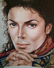 Michael Jackson #2 airbrushed (Airbrush Goddess) Tags: portrait music michael king 5 jackson mtv hiphop rap airbrushing rapper bet airbrush rnb airbrushed