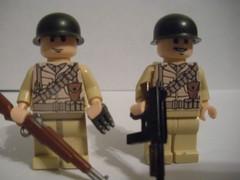 2 new americans (BrutalCroat42) Tags: lego m1 painted ww2 americans thompson garand brickarms