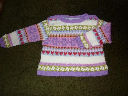Jacquard baby jumper
