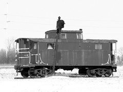 bw caboose (kk7k) Tags: ohio blackandwhite bw digital canon flickr powershot caboose 2010 g9 auglaizecountyohio
