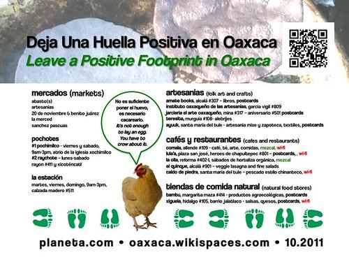 Free Poster: Leave a positive footprint in Oaxaca (2011)