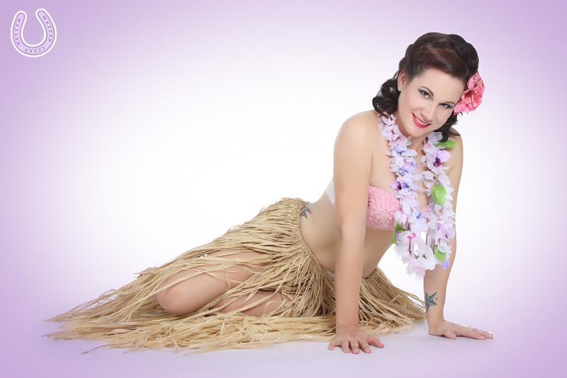 Sexy hawaiian girl art