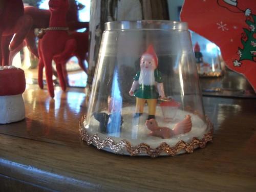 gnome winter wonderland terrarium