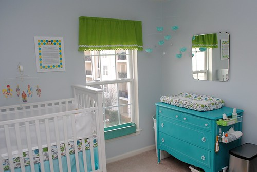 View of the changing table