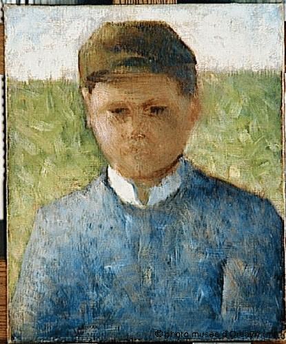 Le petit paysan en bleu, Georges Seurat, 1882