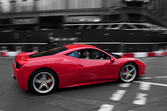 Italia. (Alex Penfold) Tags: camera red london cars alex sports car canon photography photo cool italia shot awesome picture fast super ferrari exotic photograph panning supercar exotica 2010 supercars penfold 458 450d hpyer