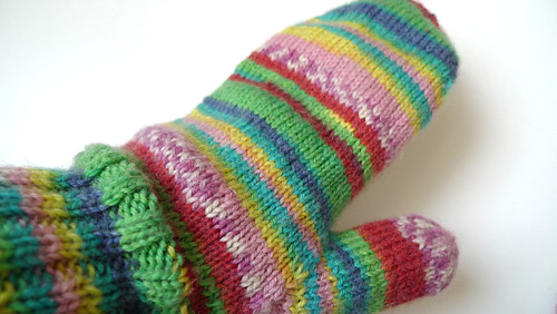left mitten finished