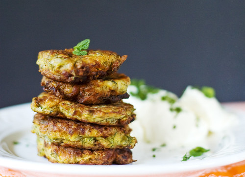 Courgettes Fritters with Feta and Dill