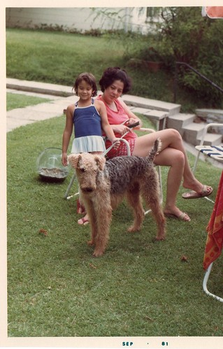 Me, mom, and our airedale JJ