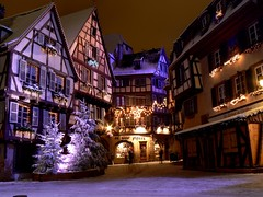 Colmar sous la neige...by night -  (1)  -  (14 photos) (Philippe Haumesser Photographies) Tags: city winter snow france night hiver noel colmar christmass alsace neige nuit nocturne ville elsass doubleniceshot mygearandme flickrstruereflection1 flickrstruereflection2