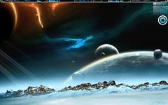 2010-12-30 (Klexur) Tags: desktop blue white black minimal emerge lumen rainmeter