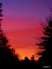 Layers of Sunset Color (Krittergirl) Tags: sunset skies nightskies colorfulclouds wintersunsets mainesunsets