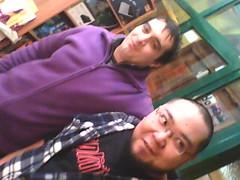 Alejandro y Daniel con cara de locos.