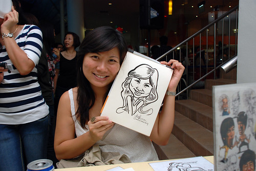 Caricature live sketching for BAT White Christmas Party 2010 - 26