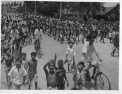 Reoccupation of Penang (Chris Turner Photography) Tags: world new india white black history public monochrome japanese war burma military delhi historic east malaysia marching ww2 second soldiers penang press 1945 campaign far crowds troops services inter internal relations malaya prisoners disarmed ghq surrendered directorate
