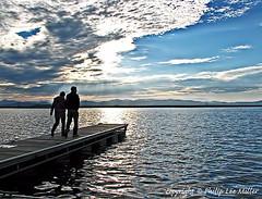 Lake Champlain Pier at Sunset (philipleemiller) Tags: burlington pier vermont lakes sunsets adirondacks lakechamplain