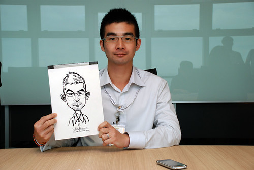 Caricature live sketching for Vopak Christmas Party 2010 - 7