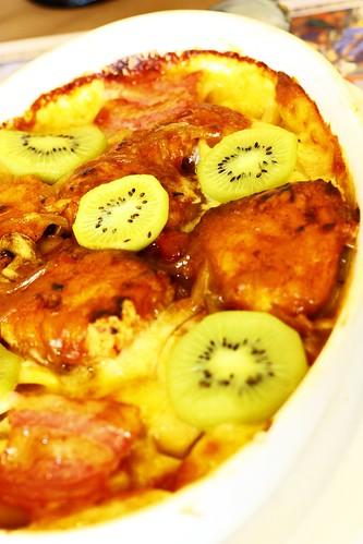 挪威鮭魚香草奇異果焗烤