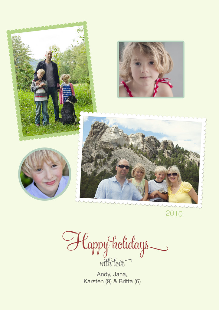 Holiday card : Inside