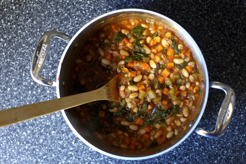 white bean and chard stew