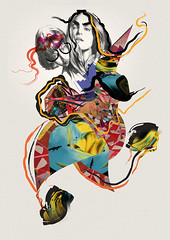 FASHION COLLAGE (Rebecca Robin) Tags: carnival abstract art fashion collage illustration ink paper paint pattern hand graphic dancing drawing mutant drawn