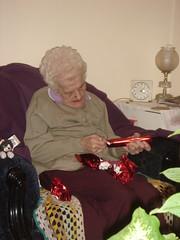 Granny with Christmas pressies - Boxing Day (Pub Car Park Ninja) Tags: christmas december 2010 granny oxford boxing day isabellarichardson isabella richardson isabel november 2016