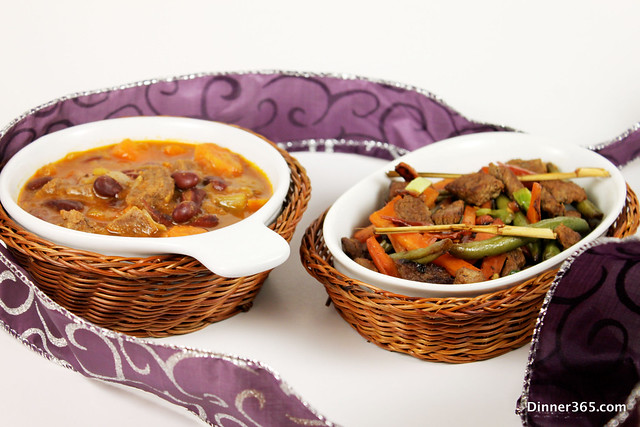 Chilli soup and Spicy Beef Stir Fry