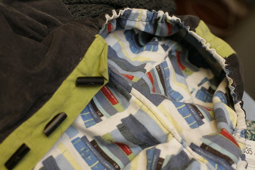 Baby in the hood jacket lining