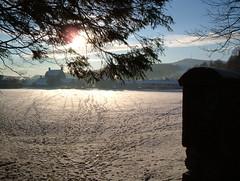 LITTLE FOOTPRINTS. (the water watcher 05.) Tags: school winter light shadow sky sun white house building tree nature silhouette wall clouds star scotland town frost village view footprints bluesky toon snowwhite lightandshadow borders snowscape snowscene dumfriesandgalloway winterscene dumfriesshire snowtracks langholm fujifinepixa607 landscapw muckletoon langholmwalks warblahill langholmprimaryschool
