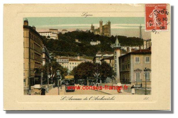 L'Avenue de l'Archévêché, LYON