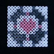 Weighted Companion Cube in Hama beads