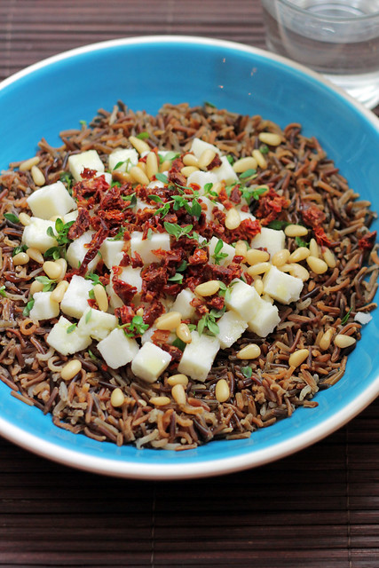 Goat Cheese, Wild Rice and Sundried tomatoes