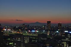 Fuji Sunset (OzGFK) Tags: blue sunset japan island tokyo nikon exposure fuji mt mount hour blend shibaura d90 enfuse perfectsunsetssunrisesandskys bracketeer enfused