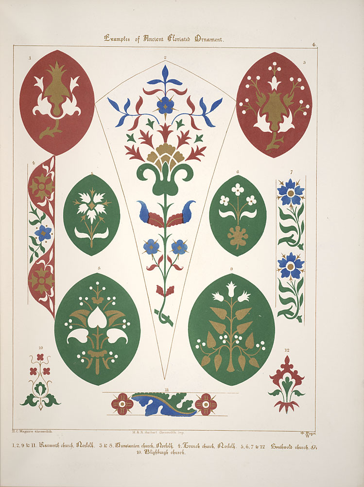 Floriated ornament, a series of thirty-one designs, 1849 - Augustus Welby Northmore Pugin e