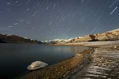 Lucky Stars (Dylan MacMaster) Tags: longexposure lake snow mountains idaho fcs startrail singleexposure luckypeakreservoir fotocompetition fotocompetitionbronze