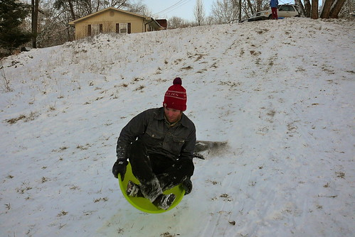 Sledding at West Asheville Park